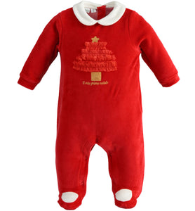 Baby Girls Christmas Baby Grow, Christmas Romper Suit, 41288 2253
