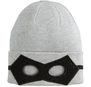Boys IDO Grey Hat with mask detail, 4K161, superhero twist on the IDO winter hat!