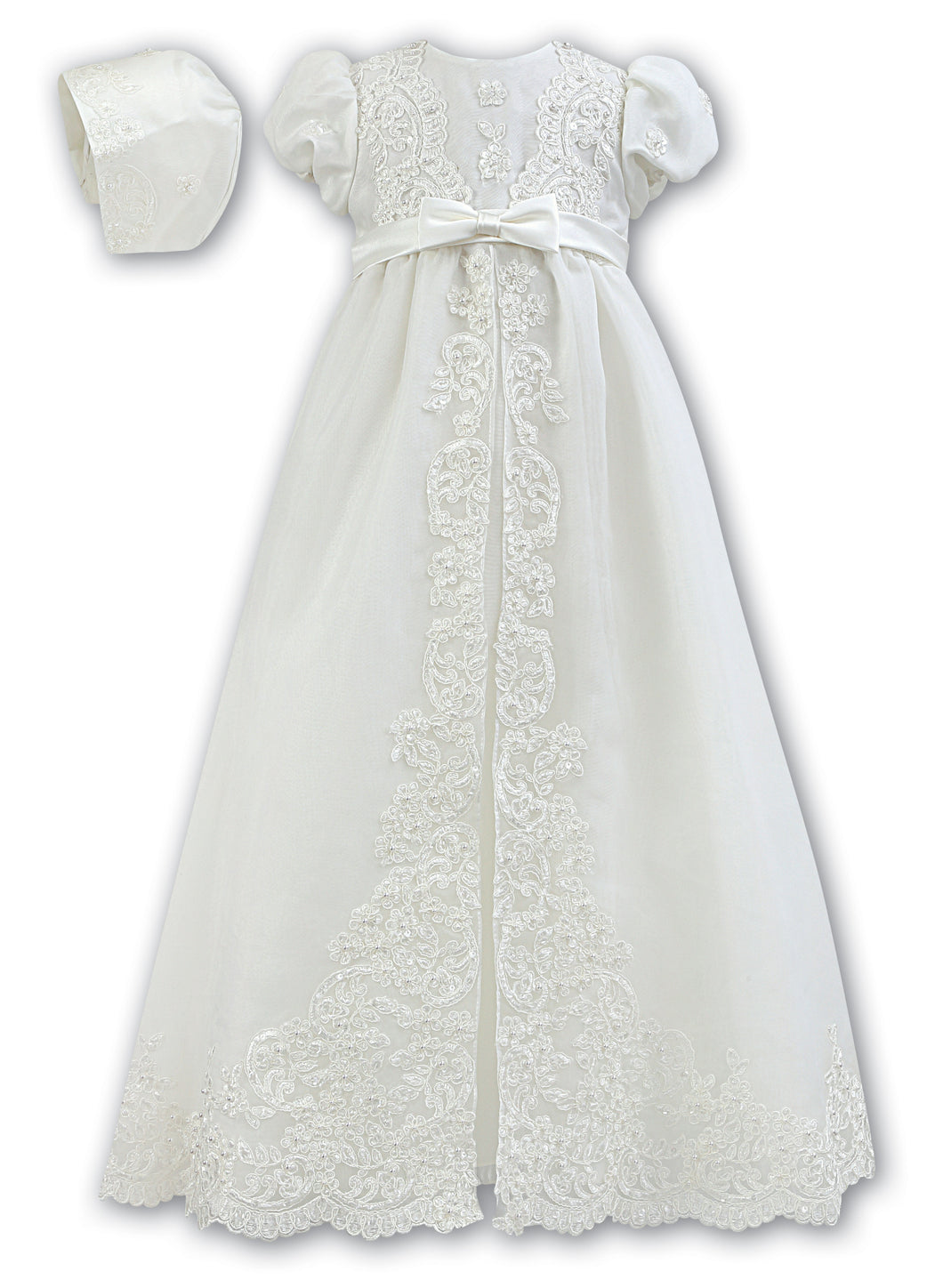 Baby Girls christening gown, baptism baby girls robe, Naming ceremony gown