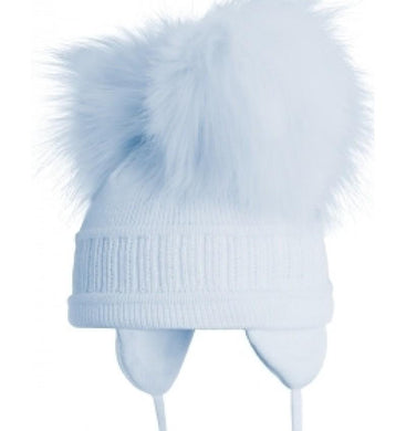 Satila pale blue tindra double pom pom