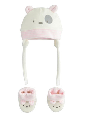 Baby Girls iDO Hat & Booties Set 41053