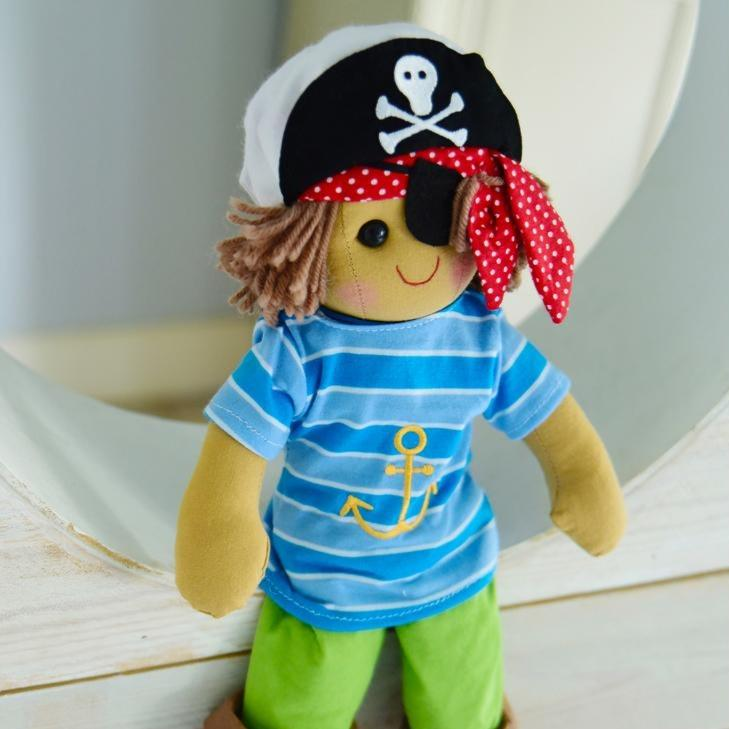 Pirate Rag Doll for little pirate lovers