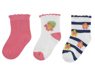 Mayoral Girls Set of 3 Pink and White Socks Set - SS19