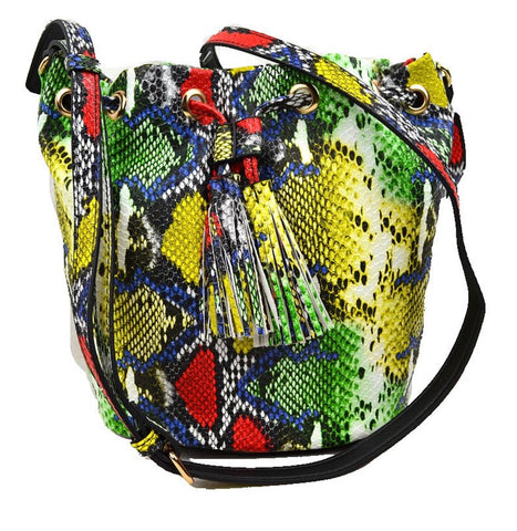 Crazy Snake Drawstring Bag