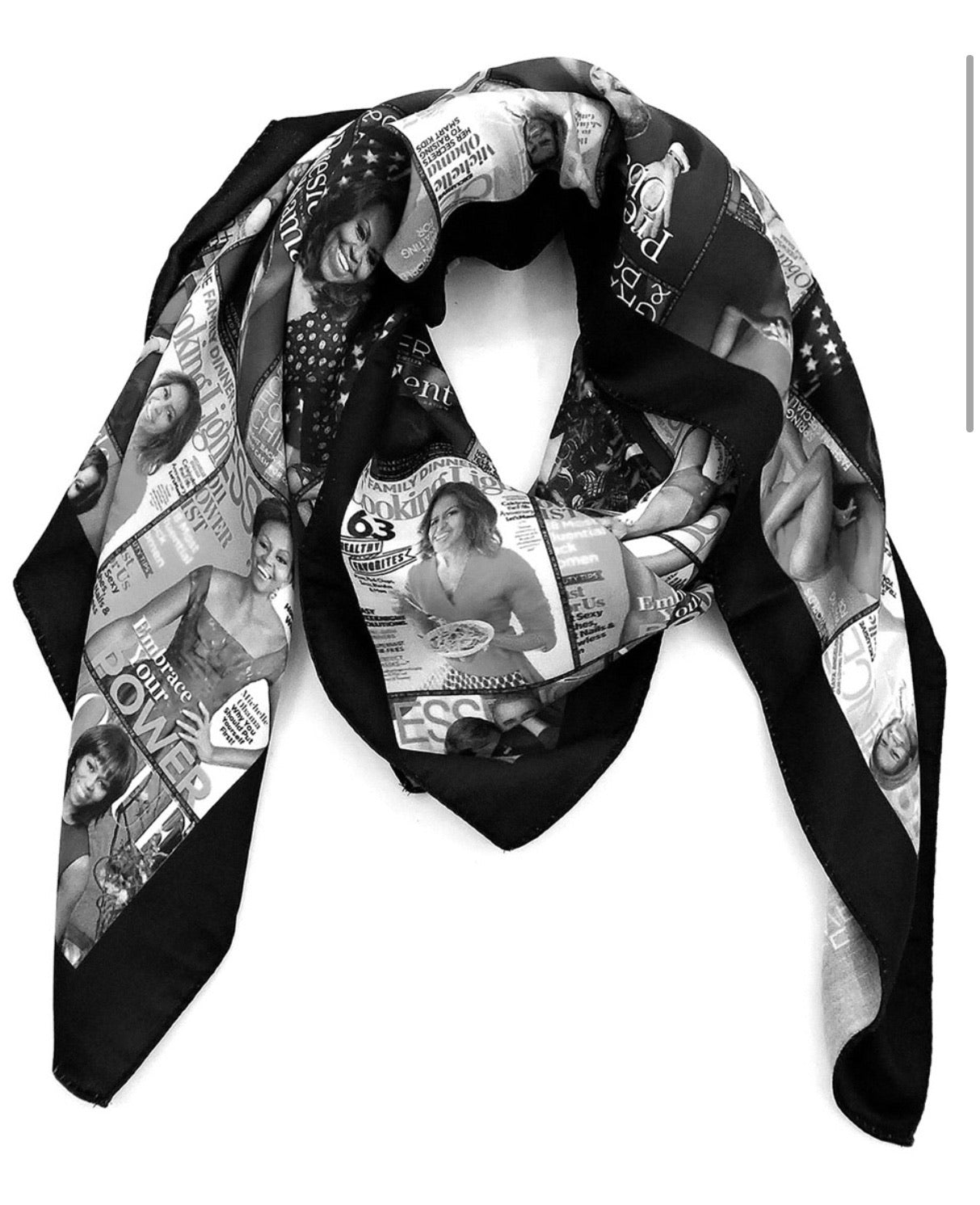 Michelle Obama Scarf - Black/White