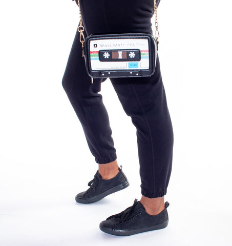 Retro Cassette Tape Crossbody