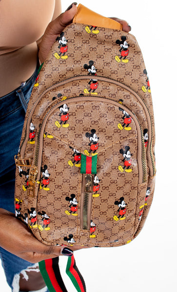 Mickey Chest/Crossbody Bag - Multi Zip