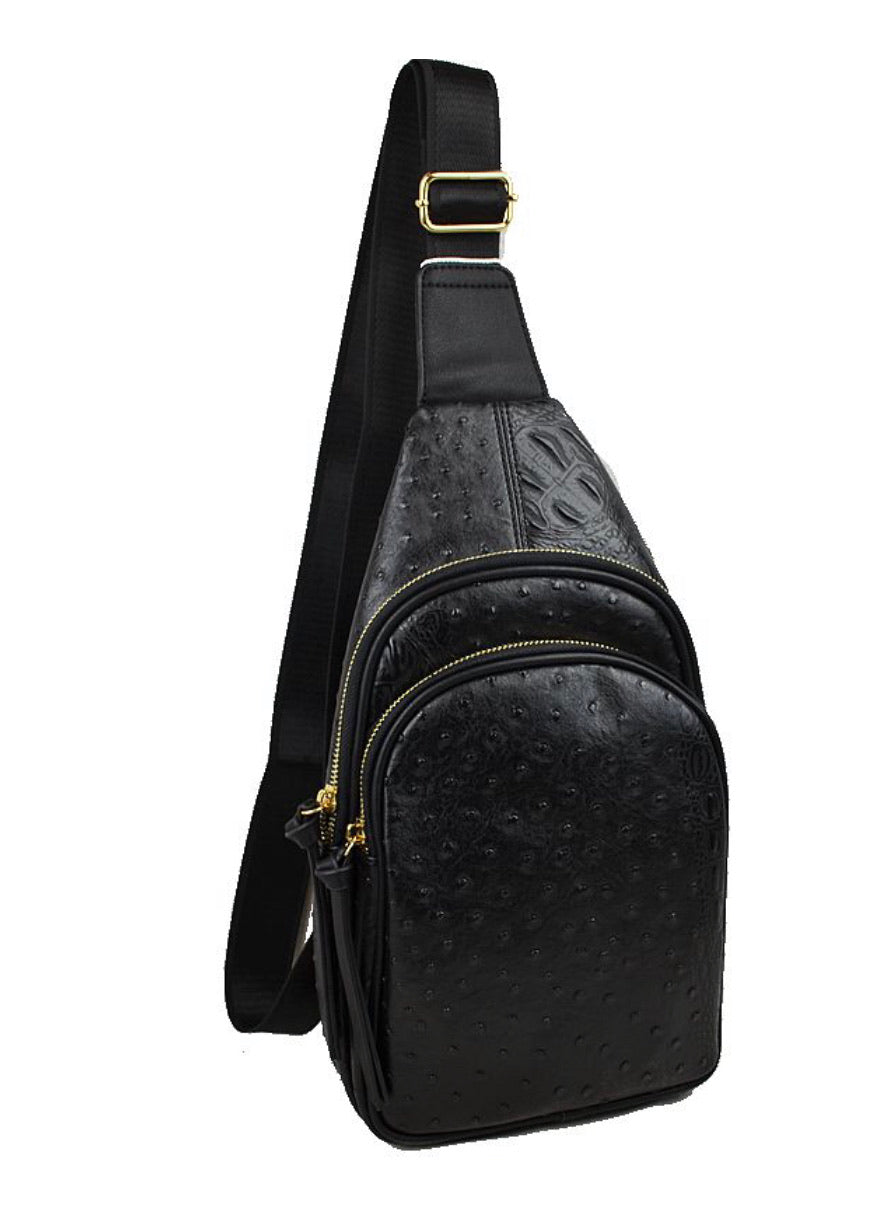 Croc Chest/Crossbody  - Black