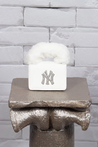 NY Fur Handle  Bag - Off-white