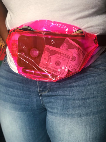 Neon Pink Fanny Pack/Crossbody Bag