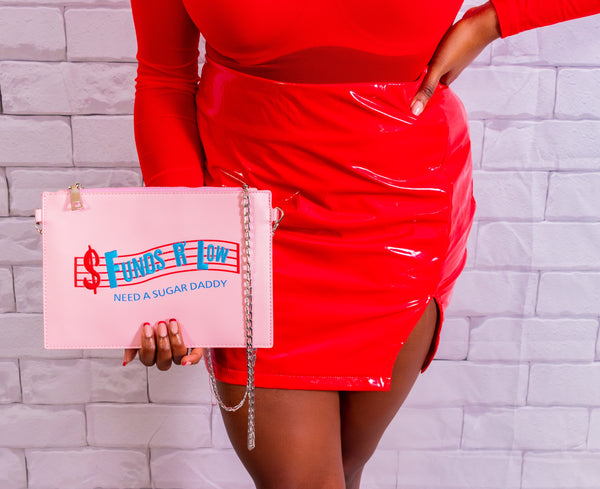 Fund$ Low Clutch Bag