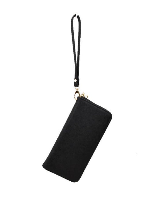 Single Zip Wristlet Wallet