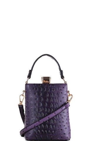 CROCO PATTERN CROSSBODY BAG