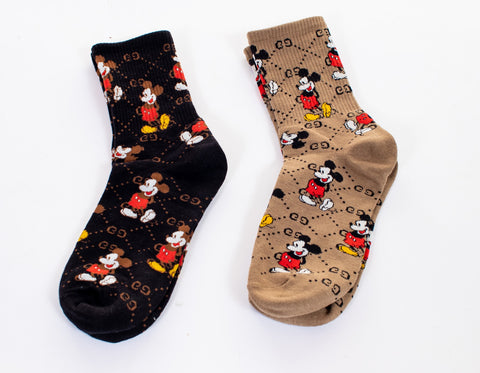 Mickey Socks - Tan