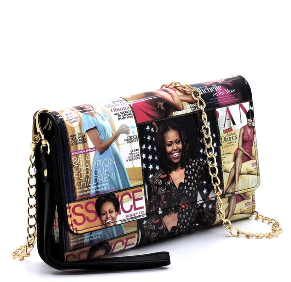 Michelle Obama Purse Wallet, +Cellphone Holder