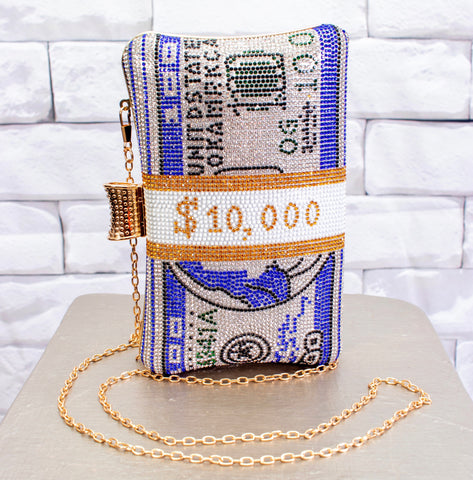 Couture Rhinestone $10K- Blue