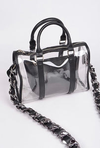 """ Illusion"" Boston Bag, with pouch"