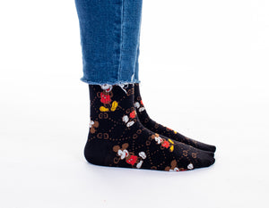 Mickey Socks - Black