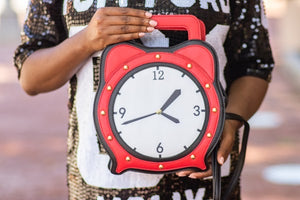 """Tik Tok"" Clock Handbag/Crossbody"