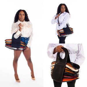 """Wave of Colors"" Handbag - Black"