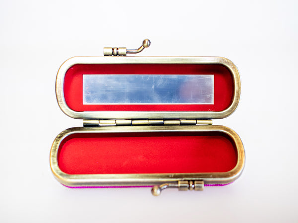 Lipstick Holder Clutch - Plum