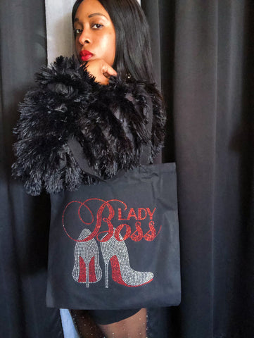 Boss Lady Tote -Red Bottom