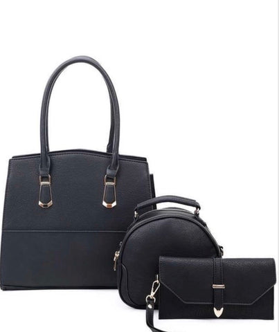 3IN1 CHIC SATCHEL CROSSBODY AND CLUTCH SET