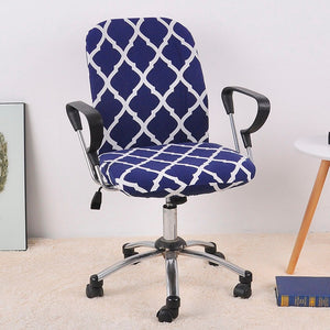Spandex Office Chair Cover ( 2 Pieces Set for Chair Back and Base)