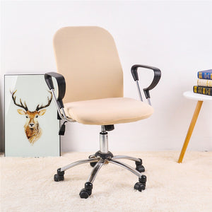Single Color Spandex Office Chair Cover ( 2 Pieces Set for Chair Back and Base)