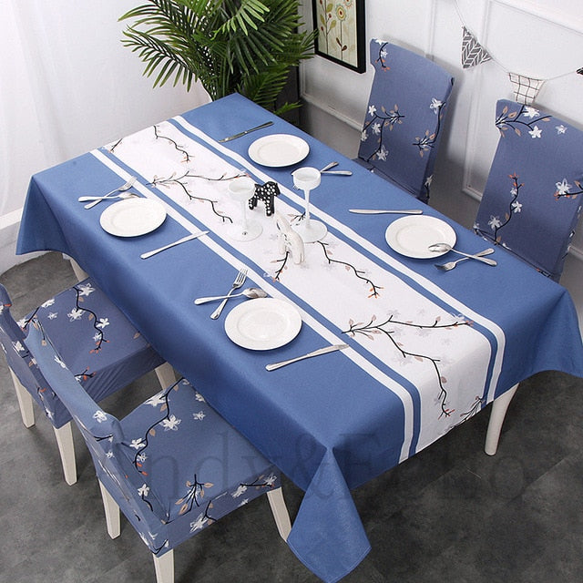 New Style Table Cloth Rectangular and Elastic Chair Seat Cover
