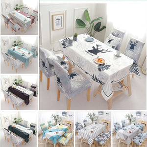 Table Cloth and Elastic Chair Seat Cover
