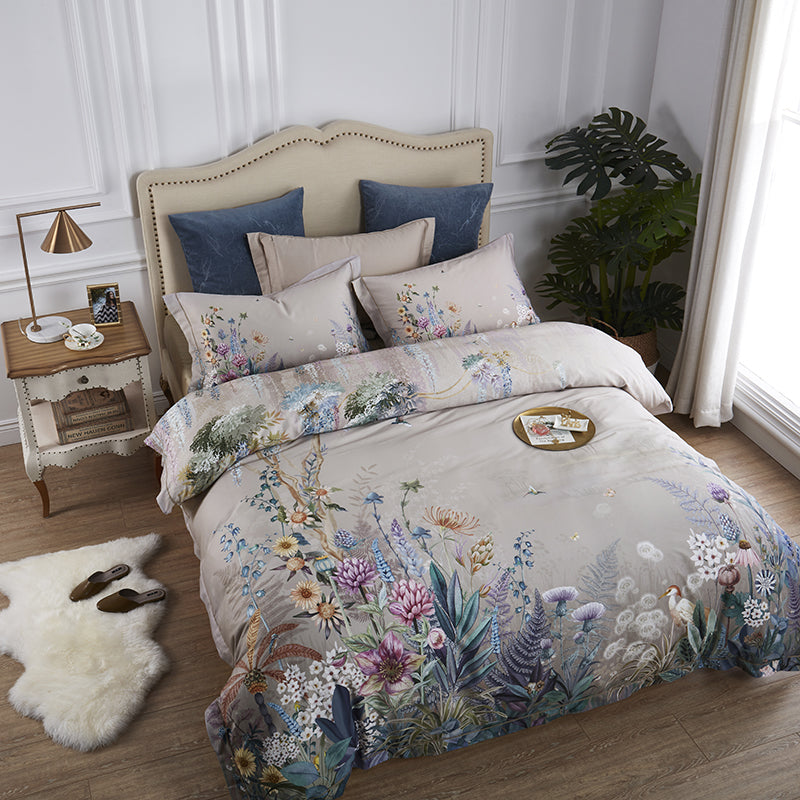 Sofia Floral Egyptian Cotton Duvet Cover Set
