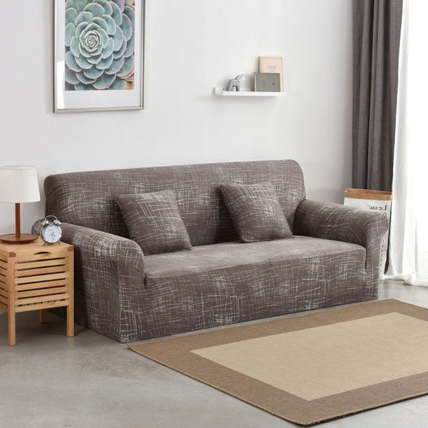 Brown Abstract Sofa Cover