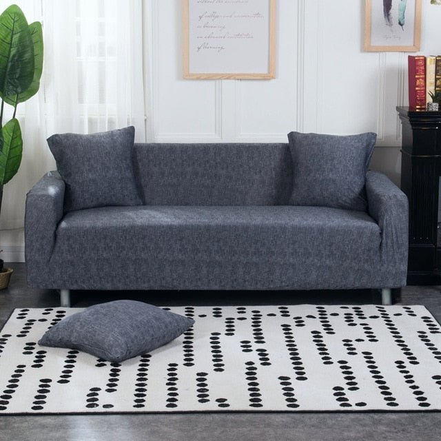 Navy Charcoal Sofa Cover