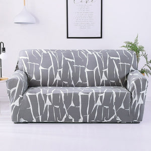 Brush Stroke Style Sofa Cover