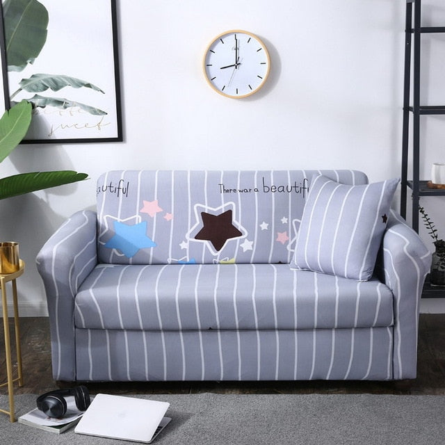 Grey Star Sofa Cover