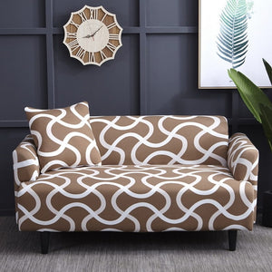 White Linear Style Sofa Cover