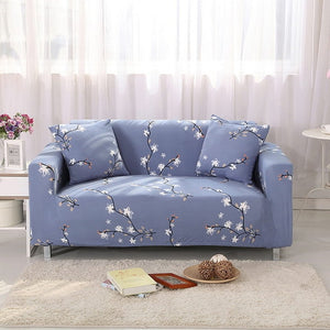 White Flower Sofa Cover