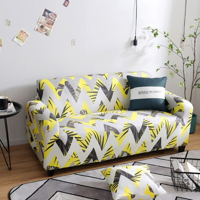 Yellow Arrows Sofa Cover