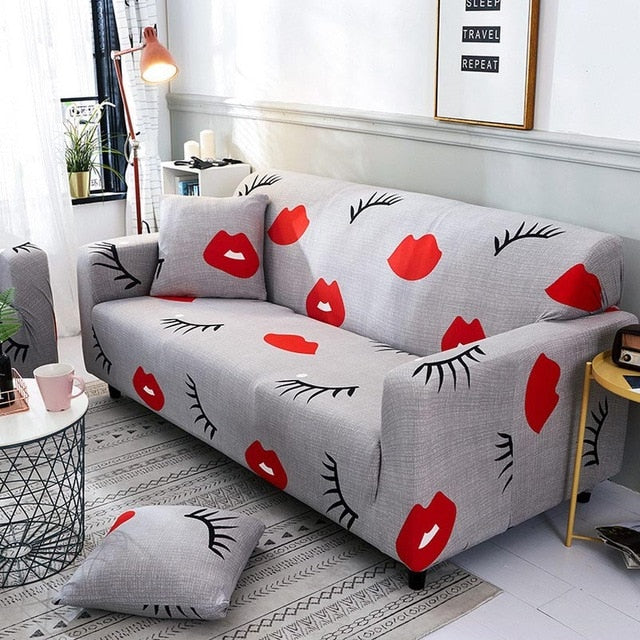 Red Lips Sofa Cover