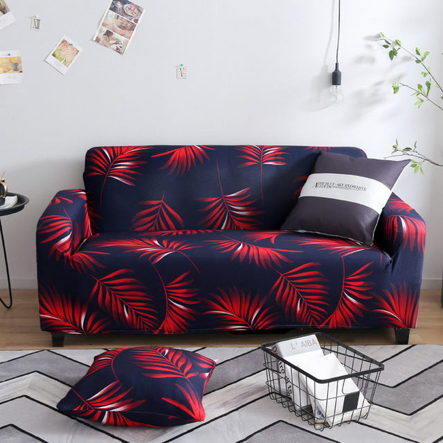 Red Leaf Sofa Cover