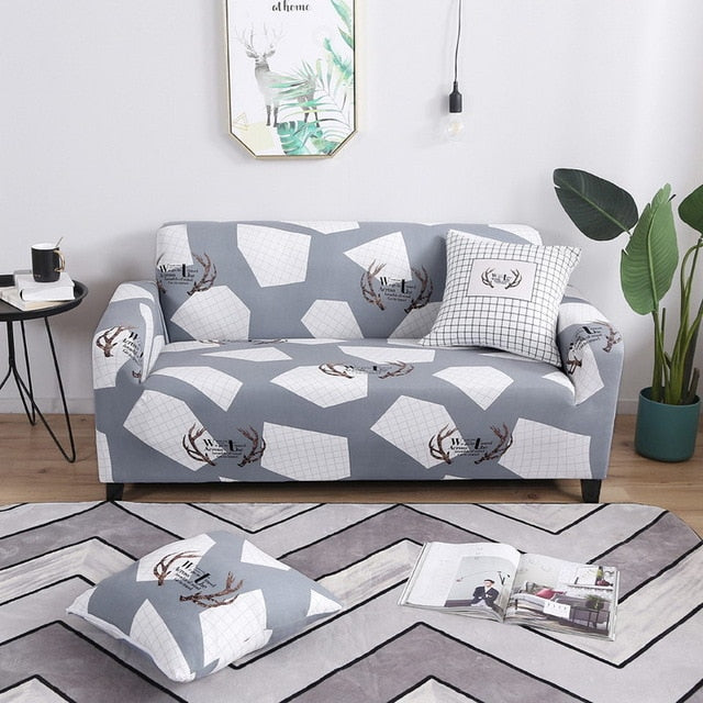 Geometric Design Sofa Cover