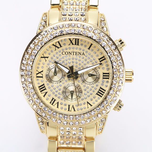 2018 Gold Watch Women Luxury Brand New Geneva Ladies