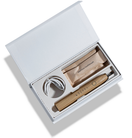 Bamboo Electric Toothbrush Packaging Opening