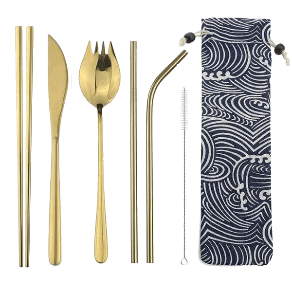 Stainless Steel Cutlery Set & Pouch - Sustainable tomorrow