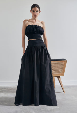 The Cotton Rib Maxi Skirt
