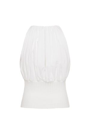 Cotton Rib Tank Top - Ivory