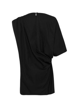 The Asymmetrical Mini Dress - Black