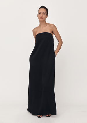 Column Dress - Black