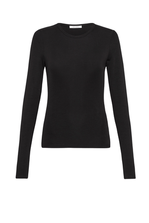 Long Sleeve Crew Top - Black
